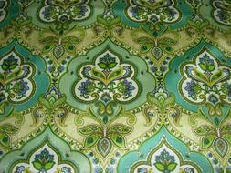 18 5/8 YDS TREND LILY PAD COTTON SATEEN DRAPERY UPHOLSTERY F