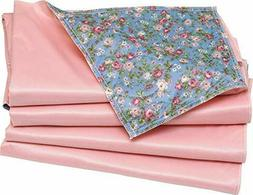 4 Pack -24X36 Washable Bed Pads Floral Print with Pink Vinyl