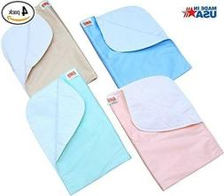 4 Pack 24x36 Washable Bed Pads/Reusable Incontinence Underpa