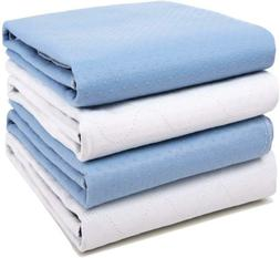 "4 Pack Bed Pads For Incontinence Washable 34"" X 36"",Waterpro"