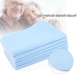 6Pcs Washable Waterproof 3 Layer Baby Adults Incontinence Be