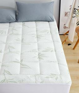 bamboo mattress pad overfilled extra plush topper