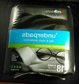 """Bed Pads,Under Pads 23"""" x 36"""" New Package of 18"""