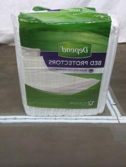 Depend Bed Protectors Pads 12 Count TRI-LOC triple Layer Pro