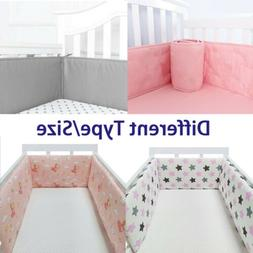 1/4 Pc/Set Newborn Baby Crib Bumper Pads Comfy Safety Bed Co