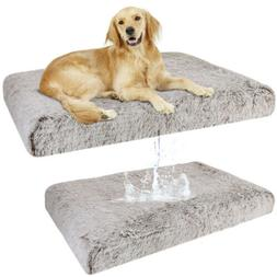 Deluxe Large Dog Bed Pet Cushion Soft Pad Cozy Foam Crate Wa