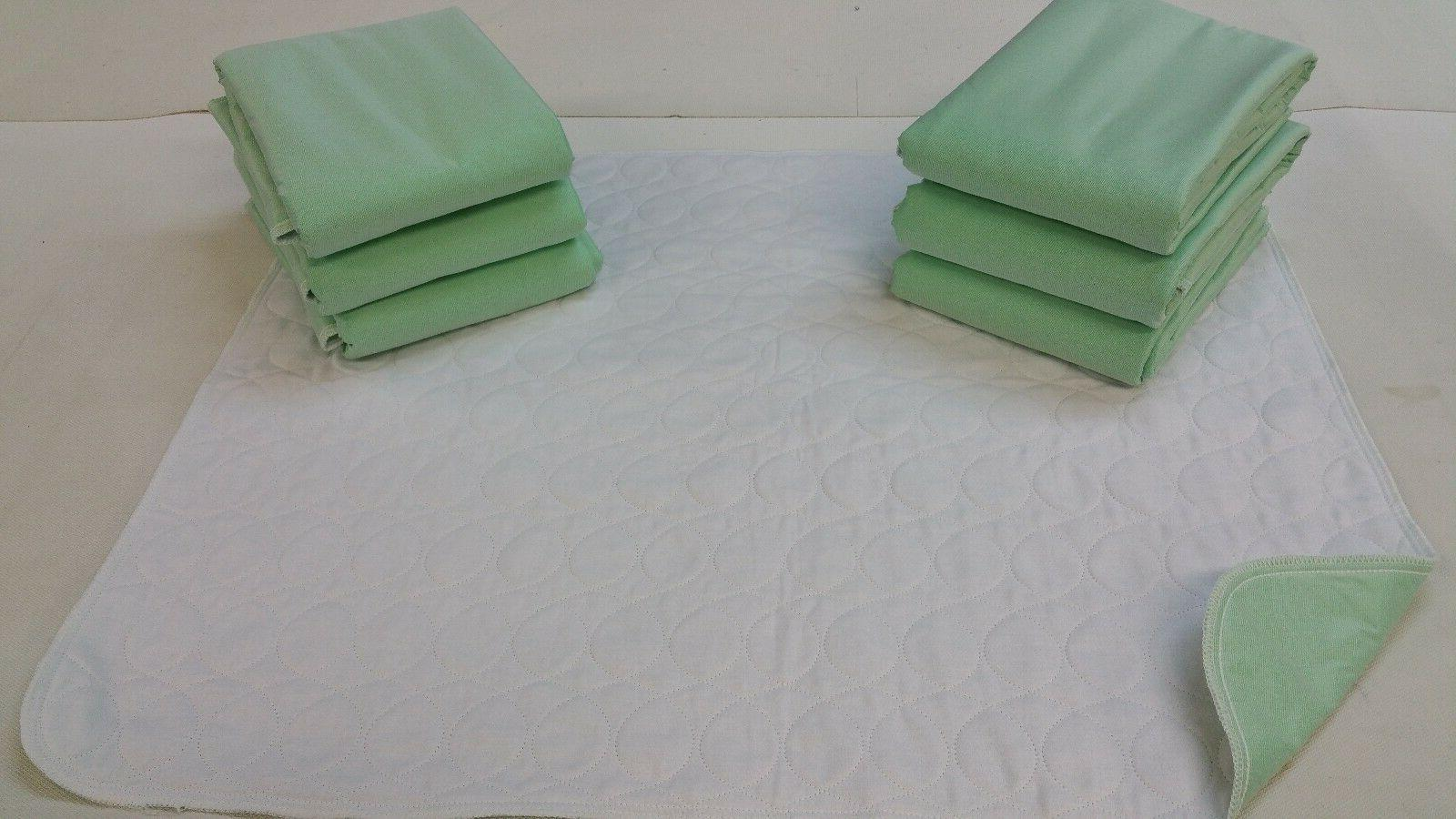 6 new bed pads 34x36 washable reusable