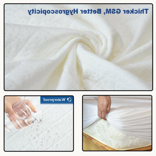 Bamboo Mattress Bed Pad Topper Twin