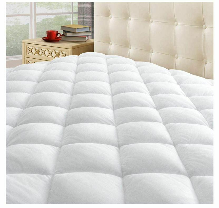 thick queen size mattress pad cover pillow
