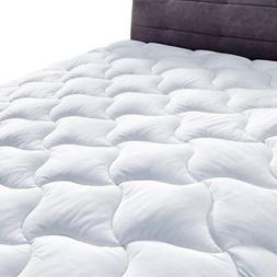 YOUMAKO Quilted Fitted Mattress Pad Cover Pillowtop Overfill