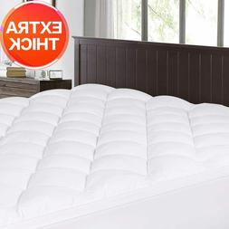 Mattress Pad Cover Memory Foam Pillow Top Topper Extra Thick