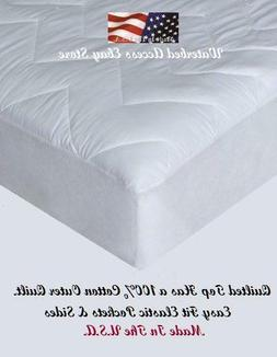 Mattress Pad with 100% cotton outer material for Full and Do