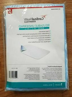 "NEW Cardinal Health Reusable Bed Pad ReliaMed 34"" x 36"" Unde"