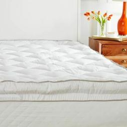 New Concierge Collection Diamond Quilted Skirt Mattress Pad,