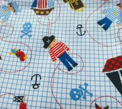 Babyville PUL Fabric with Pirates & Ships Diapers, Puppy Pad