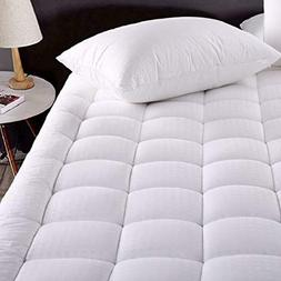 Queen Size Cotton Mattress Pad 100% Cotton Fabric Quilted To
