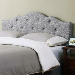 Rounded Corners Upholstered Adjustable Height Bed Headboard