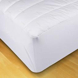 """XL Twin Fitted Mattress Pad Ideal for College Dorm Bed 39"""" x"""