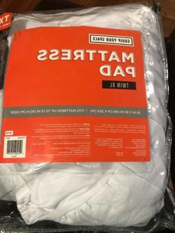 Equip Your Space Twin XL Mattress Pad Solid White 39 x 80 Fi