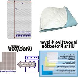 Ultra Soft 4-Layer Washable And Reusable Incontinence Bed Pa