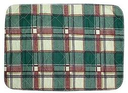 Washable Bed/Chair Pad - 17 x 24 - Plaid