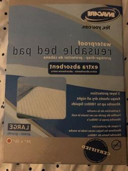 """Washable reusable bed pads 34"""" x 36"""" by Invacare"""