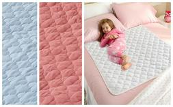 WASHABLE WATERPROOF QUILTED BED PAD Protect Sheet Mattress K